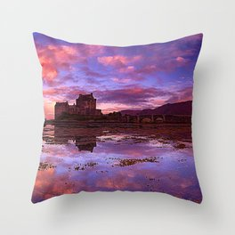 Spectacularly Beautiful Fairytale Castle Schloss Weilburg Hesse Germany Europe Ultra HD Throw Pillow