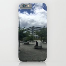 Lone Person In The City iPhone Case