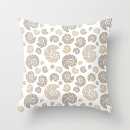 Sea shells pattern pastels #1 Throw Pillow