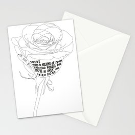 Unique Rose Stationery Cards