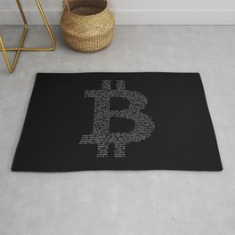 Bitcoin Binary Black Rug