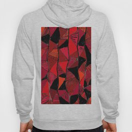 Black & Red Triangles Hoody