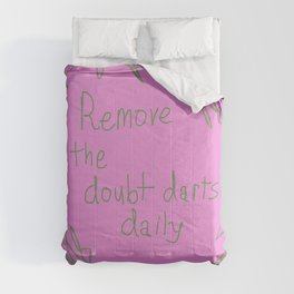 Remove the doubt darts daily Comforters
