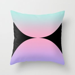 Gradient Abstract VI Throw Pillow