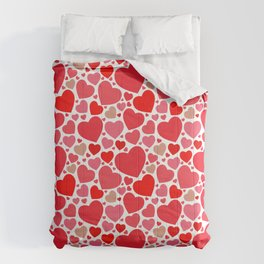 Red Hearts Pattern 2 Comforters