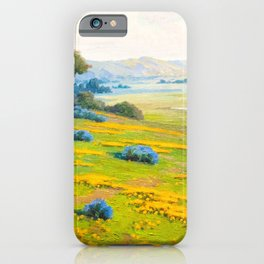A Spring Morning, Poppies and California Bush Lupine by John Marshall Gamble iPhone Case