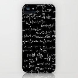 Math Equations // Black iPhone Case