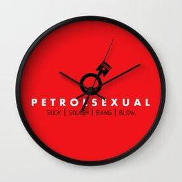 PETROLSEXUAL v1 HQvector Wall Clock