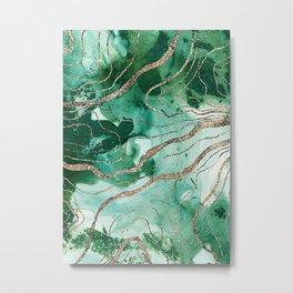 Liquid Marble Glitter Glam #1 (Faux Glitter) #decor #art #society6 Metal Print