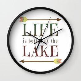 Life Is Better At The Lake - Summer Camp Camping Holiday Vacation Gift Wall Clock