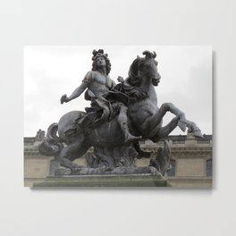 """Statue of """"Louie the XIV"""" Metal Print"""