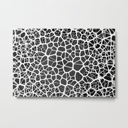 Abstract Neurons Network Metal Print