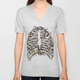 Breast Chest Skeleton Unisex V-Neck