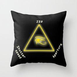 Exposure triangle Throw Pillow