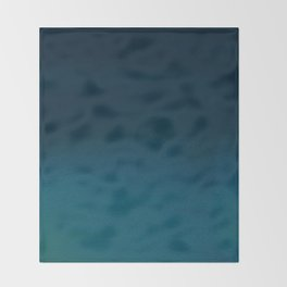 Navy blue teal hand painted watercolor paint ombre Throw Blanket