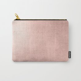 Blush Rose Gold Ombre  Carry-All Pouch
