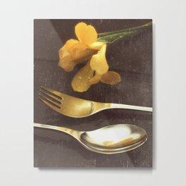 Flowers on Slate, variation 3 Metal Print