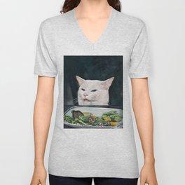 Woman Yelling at Cat Meme-4 Unisex V-Neck