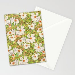 Fresh White Peonies  Stationery Cards