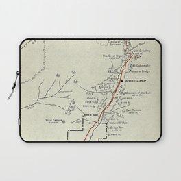 Vintage Zion National Park Map (1919) Laptop Sleeve