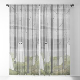 The Woods are full of Ghosts Sheer Curtain
