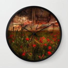Tending the Fallen Wall Clock