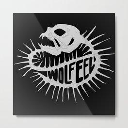 Wölf Eel Metal Print