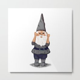 Hangin with my Gnomies - Fist Pump Metal Print