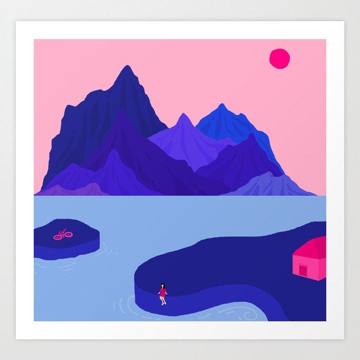 Mountain Hike//Missing Bike Kunstdrucke