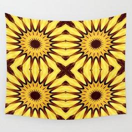 Sunflowers Yellow & Brown Pinwheel Flowers Wall Tapestry