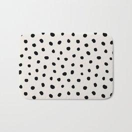 Modern Polka Dots Black on Light Gray Badematte