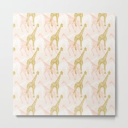 A Movement of Giraffes Metal Print