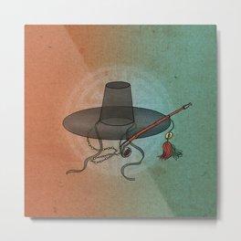 Minhwa: GAT Joseon Hat B Type (Korean traditional/folk art) Metal Print