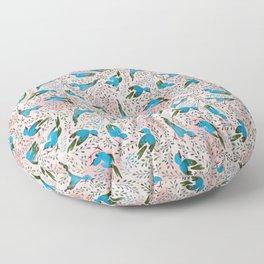 Birds in Spring Floor Pillow