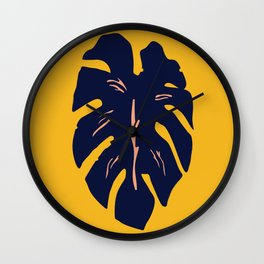 Gold Palm Wall Clock