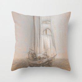 Atlantis Sailing Ship da Vinci Throw Pillow