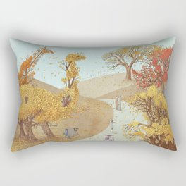 The Night Gardener - Autumn Park Rectangular Pillow