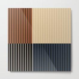Color Block Lines I Metal Print