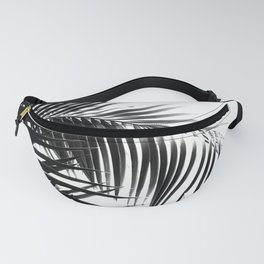 Palm Leaves Black & White Vibes #3 #tropical #decor #art #society6 Fanny Pack