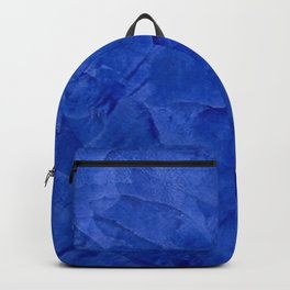 Dark Classic Blue Ombre Burnished Stucco - Faux Finishes - Venetian Plaster - Corbin Henry Backpack