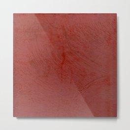 Tuscan Red Stucco - Rustic Glam Metal Print