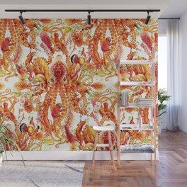 Tangerine Pattern Wall Mural