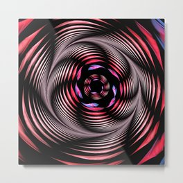 The whirlpool, modern fractal abstract Metal Print