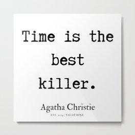 20   | Agatha Christie Quotes | 190821 Metal Print