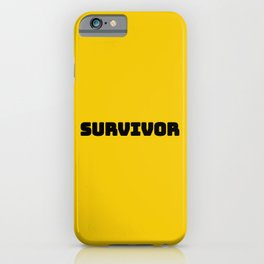 Survivor, for those who survived the pandemic iPhone Case