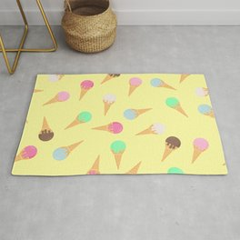 Colorful ice creams pattern Rug