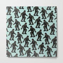 Sasquatch Sighting | Bigfoot Encounter Pattern | Wild Animals Metal Print