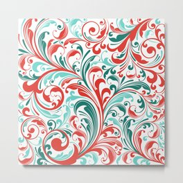 Abstract Floral 32 Metal Print