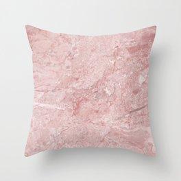 Blush Pink Marble Throw Pillow