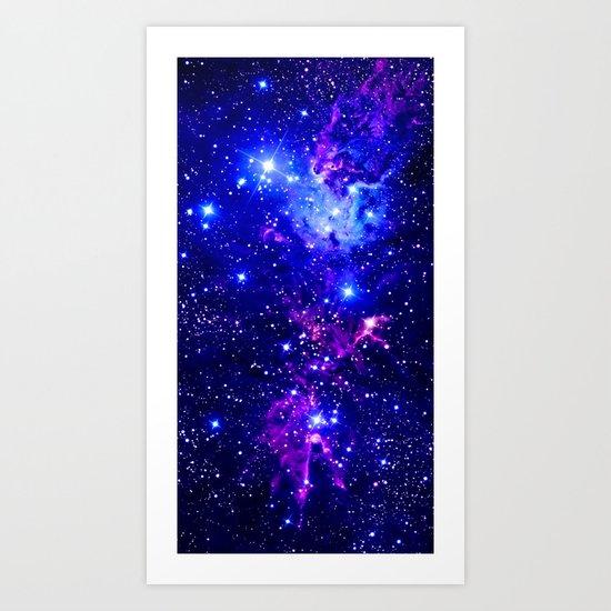 Fox Fur Nebula Galaxy blue purple by vintageby2sweet
